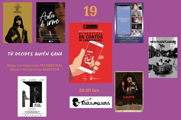 VI Festival de cortos de Carabanchel  <br /> 19 de septiembre
