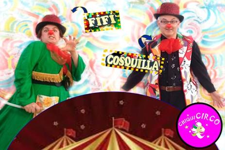 Fifi y Cosquilla, un circo de pacotilla