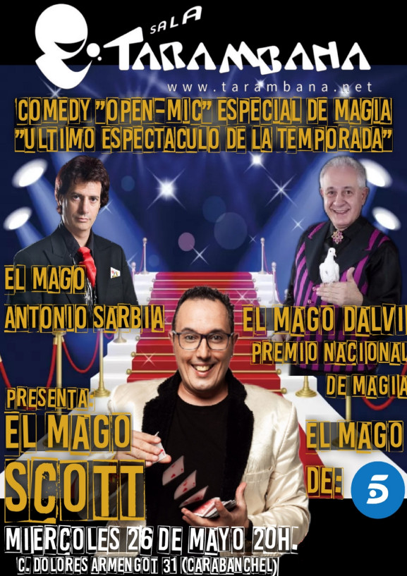 Comedy Open Mic Tarambana <br /> Especial magia<br />