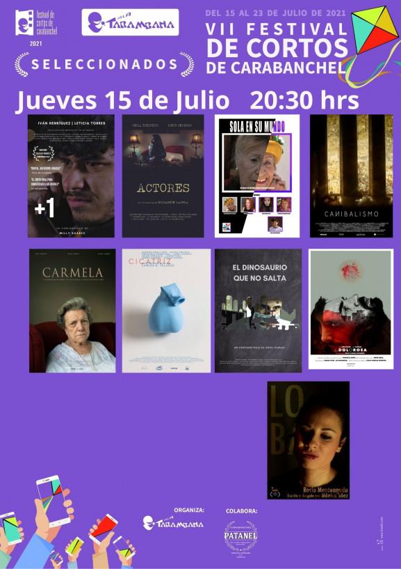 VII Festival de cortos de Carabanchel<br /> Jueves 15 de julio